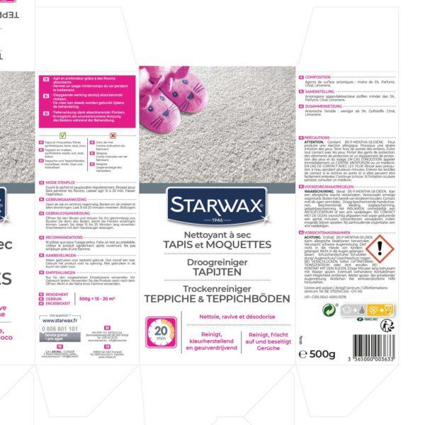 Droogreiniger tapijten 500 gr Starwax