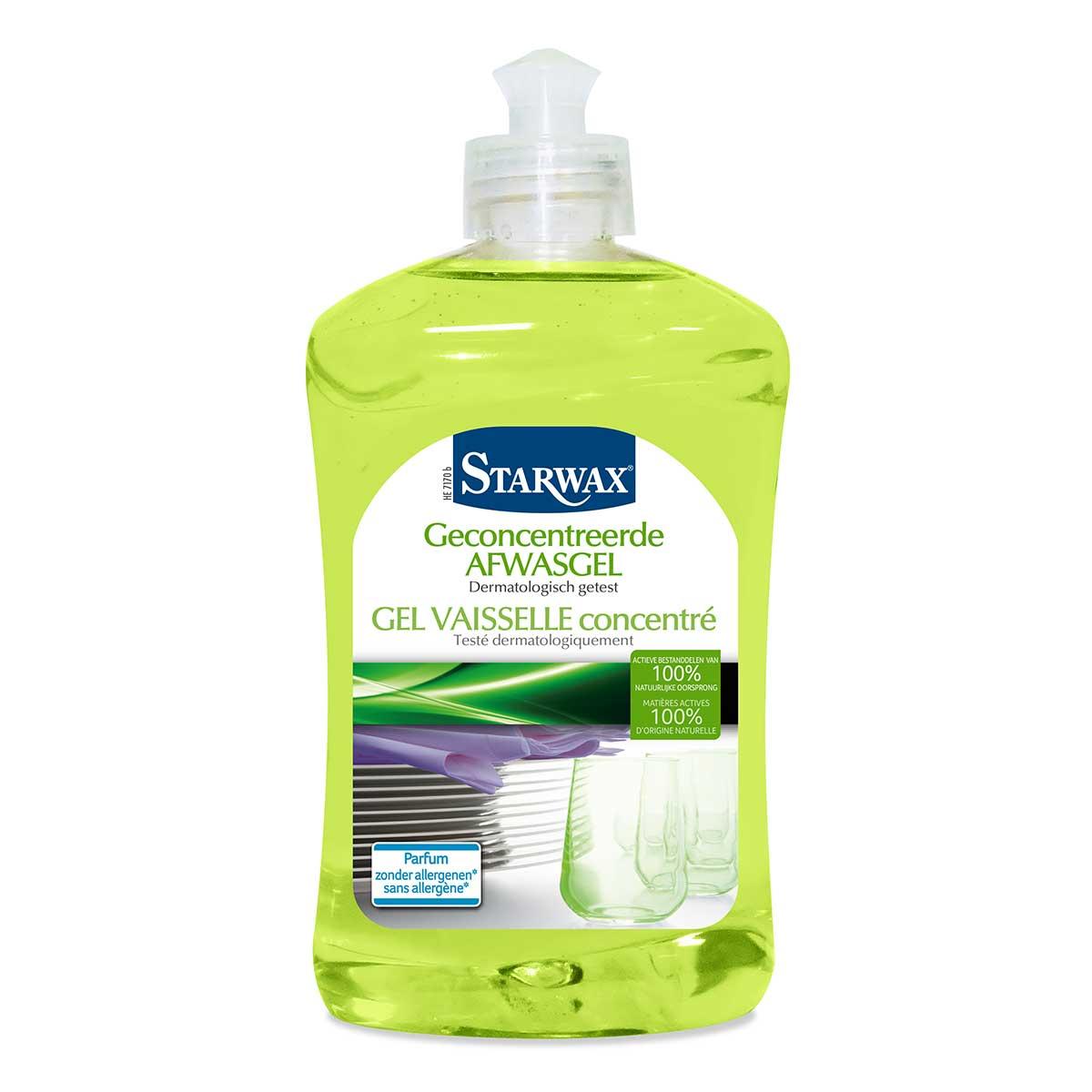 Geconcentreerde afwasgel actieve bestanddelen van 100% natuurlijke oorsprong – Starwax