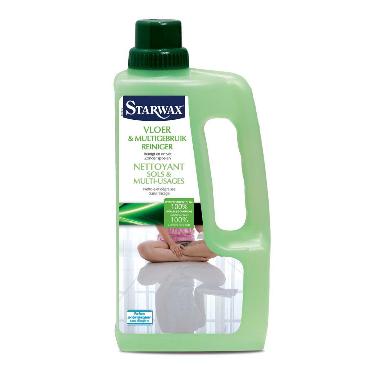 Vloer multigebruik reiniger actieve bestanddelen van 100% natuurlijke oorsprong - Starwax