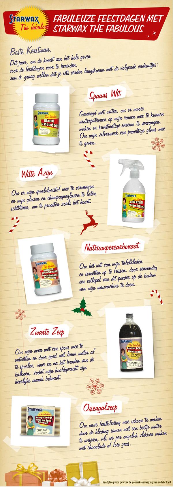 Infographie Fabuleuze feestdagen met Starwax The fabulous